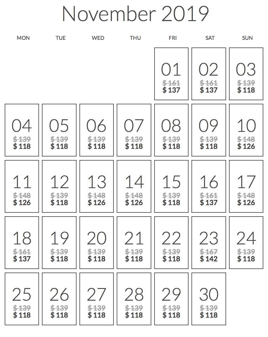 ヘリタンスカンダラマの公式ページの価格
