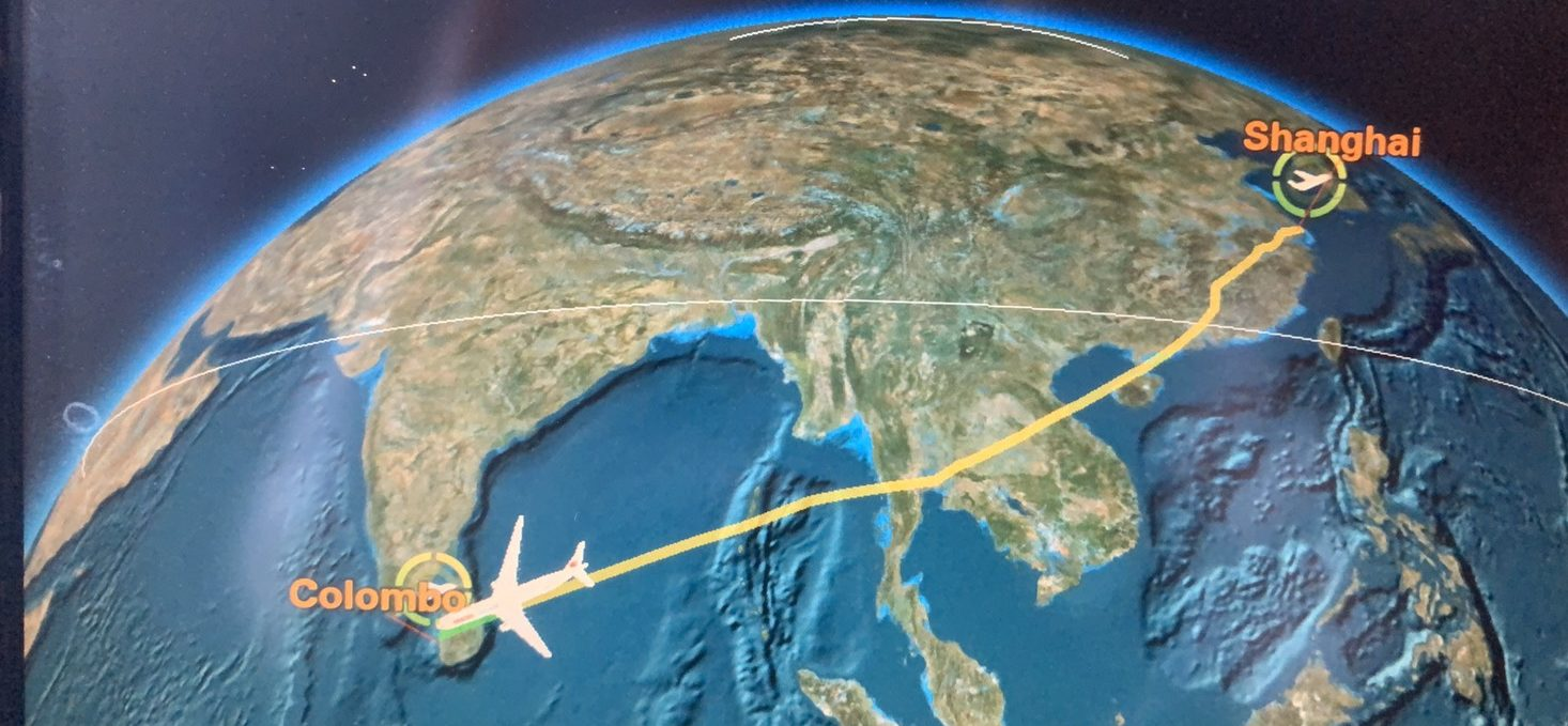 上海からコロンボの距離