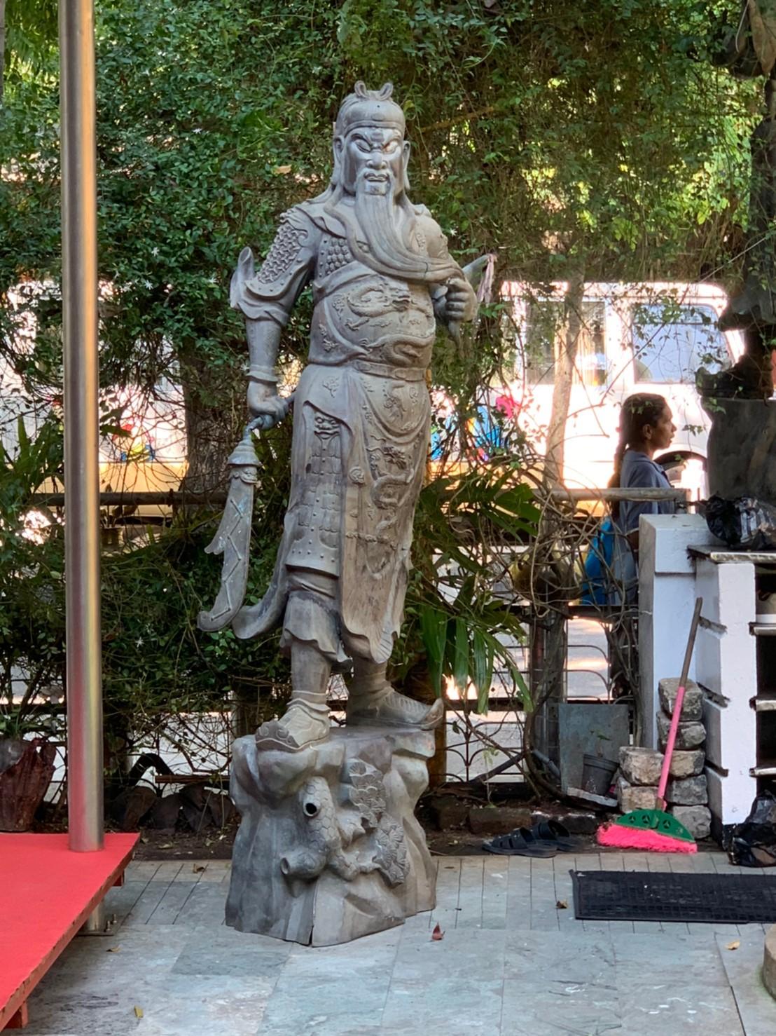 Gangarama Templeに飾られている関羽像